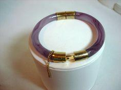Purple Jade Cuff  Vintage Hinged Bracelet by bodaciousjewels, $85.00  #vjse2 #vintage #brides #jewelry #boebot #bestofetsy