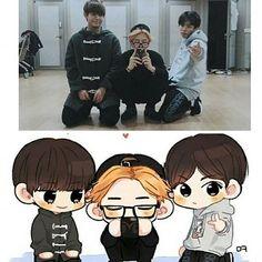 Tae Tae, Chim Chin, and Kookie