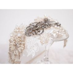 Vintage Lace and Marcasite Bridal Headdress No.121