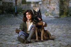 Princess Caroline of Monaco with Her Dog