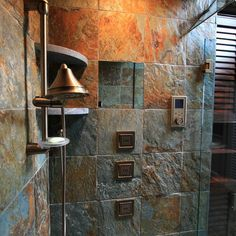 Cool Rough Luxe Bathroom Transitional With Pebble Stone Floor Handshower