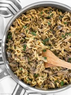 15 Easy and Yummy Meat Recipes For a Quick Dinner Beef Mushroom Stroganoff, Stroganoff Recipe, Ground Beef Stroganoff, Mushroom Soup, Beef And Mushroom Recipe, Venison Stroganoff, Beef Dishes, Pasta Dishes, Meat Recipes