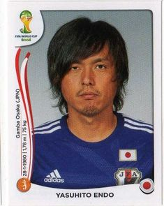 Yasuhito Endo of Japan. 2014 World Cup Finals card.