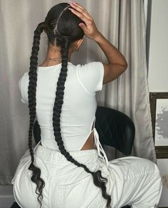 Hair Ponytail Styles, Curly Hair Styles, Natural Hair Styles, Hair Updo, Braided Ponytail, Baddie Hairstyles, Box Braids Hairstyles, Wedding Hairstyles, Dreadlock Hairstyles