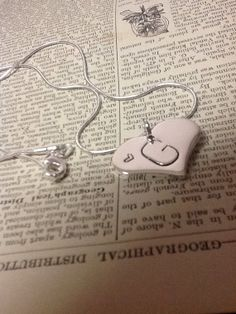 Hand Stamped   Sterling Silver Initial Necklace by girlinair, $26.00