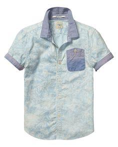Shrunk check printed shirt | Shirt s/s |