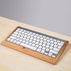 Bamboo Keyboard Stand  / Practical Base Holder