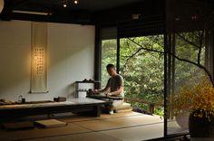 Class of Wistaria Tea House Japanese Style House, Traditional Japanese House, Japanese Home Decor, Asian Interior, Japanese Interior Design, Chinese Tea Room, Tatami, Zen Tea, Zen Interiors