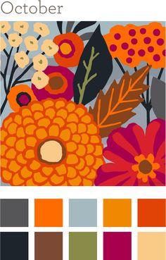 October Color Palette   Autumn Anthology
