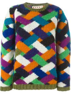 MARNI Chevron Pattern Sweater. #marni #cloth #sweater