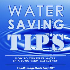A list of ideas to save water in an emergency.