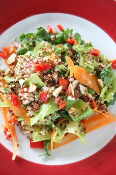 συνταγή κινόα σαλάτα Salad Bar, Cobb Salad, Health, Fitness, Recipes, Food, Health Care, Eten, Recipies