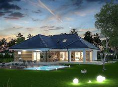 Едноетажна+къща+с+тавански+етаж+и+фасада+от+камък+и+дърво Mansions, House Styles, Home Decor, Mansion Houses, Homemade Home Decor, Villas, Fancy Houses, Interior Design, Home Interiors