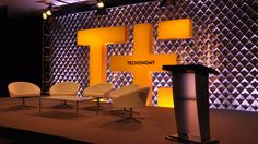 Stage design by Arkadia for Techonomy Media's TE11 conference.