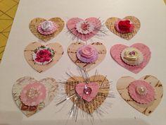 Handmade Heart embellishments