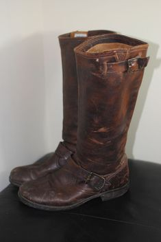 473c51f18ebeb9 Frye Veronica Short Slouch Boot Dark Brown Womens Size Gently used.