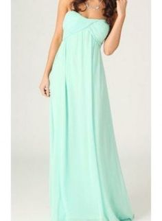 Mint Strapless Maxi with Gathered Sweetheart Top 00182,  Dress, strapless dress  maxi  evening dress, Chic