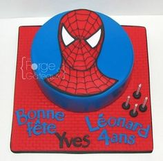 Spiderman birthday cake - La Forge à Gâteaux