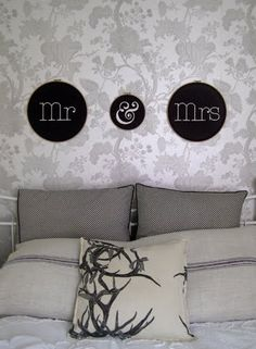 DIY mr  mrs, cute gift for the right couple   http://designersblock.blogspot.com/2012/04/shop-at-number-57.html