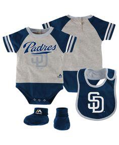 33c05bc52 Majestic Babies  San Diego Padres 3-Piece Bodysuit