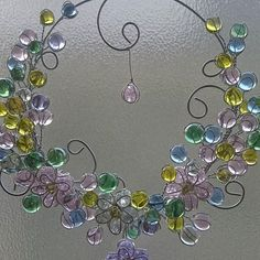 wire and glass marble wreath