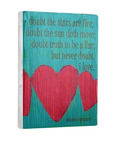 0% OFF Lisa Weedn Never Doubt Love Reclaimed Finished Wood Portrait