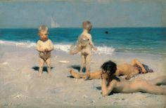 John Singer Sargent - Neapolitan Children Bathing (1879)