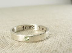 Silver Birthstone Secret Message Ring by punkybunny300 on Etsy, $52.00