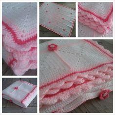 Babydeken gehaakt Manta Crochet, Crochet Bebe, Projects To Try, Crochet Patterns, Knitting, Crochet Blankets, Crocheting, Tejidos, Tricot