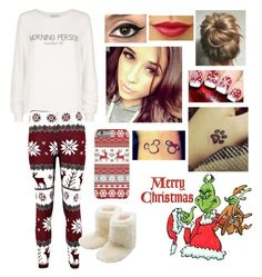 """Me on Christmas day"" by blessed-with-beauty-and-rage ❤ liked on Polyvore featuring Wildfox, M&Co, women's clothing, women's fashion, women, female, woman, misses and juniors"