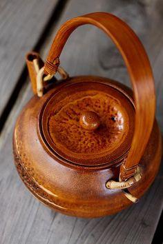 Bamboo tea pot by Taketora, Japan