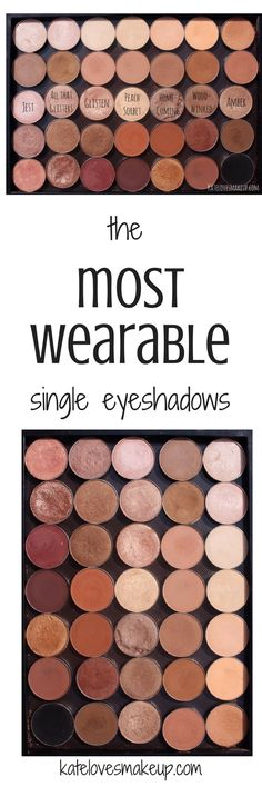 Beauty blogger Kate Loves Makeup shares the most wearable single eyeshadows for all over the lid including MAC, Anastasia of Beverly Hills and Makeup Geek eyeshadows