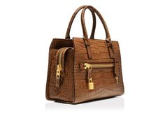Tom Ford ~ Charlotte Alligator Medium Tote in caramel