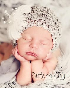 PATTERN ONLY NOT COMPLETED HAT Pattern emailed as soon as transaction is complete. mo and mo Basic crochet skills needed Stitches us Crochet Baby Hat Patterns, Crochet Bebe, Crochet Baby Hats, Crochet For Kids, Baby Patterns, Knit Crochet, Baby Bonnet Pattern, Crochet Photo Props, Newborn Hats