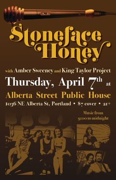 Stoneface Honey: Portland's chick rock with a political edge. Kate Austin, Honey, Bring It On, Spring, Blog, Blogging