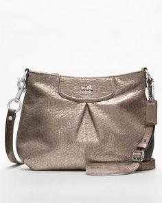 "Coach ""Madison"" Embossed Metallic Leather Fashion Swingpack"