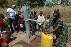 In many developing nations, available water must be carried in any container available from a central pump location to where it is needed.  Access to clean water is a major worldwide concern.