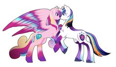 Rainbow Power Princess Cadence and Shining Armor by FuyusFox on DeviantArt