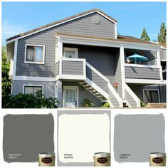 Dunn-Edwards Paints paint colors: Body: Gray Monument DET602; Trim ...