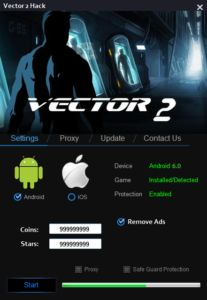 Vector 2 Hack Today, another dose of hacks. This time it is a tool for the popular game which is the vector 2. In this game play thousands of people – for you have created this application  DOWNLOAD: http://mobile-games-hack.com/vector-2-hack-androidios/