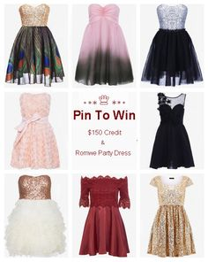 Pin To Win $150 credit>>  How to enter>>Click the photo to know details.  #pintowin #RomwePartyDress Nov. 7 – Nov. 25, 2013 |  Winners will be announced on November 28, 2013