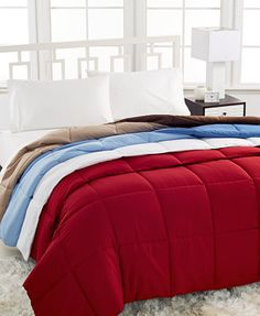 Home Design Down Alternative Comforters I got this as an early Christmas gift and love how warm it is! I do have a regular feather down comforter that does not keep me warm and needed more blankets when using.Love how lightweight this feels on me too.Great quality for the price!