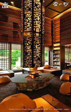 Moku no sho - Niseko Konbu Onsen Tsuruga Besso in Hokkaido. The hotel is located at the foot of Mt. Yotei in one corner of Oku Niseko Konbu Hot Springs, long enjoyed for its therapeutic effects and skiing. A traditional Japanese inn steeped in warmth of the contrasting wood and hot spring bath. #mokunosho #hokkaido #niseko #hotspringresort #hotsprings #skiresort