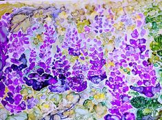 Fiori di campo - Wildflowers Alcohol ink