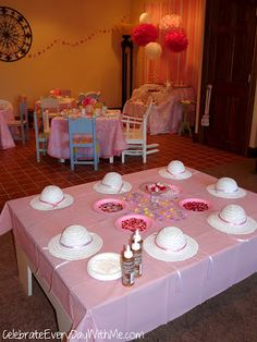 """bring your baby doll"" birthday tea party - activities for little girls"