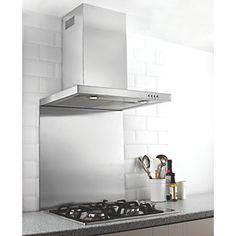 Hafele Stainless Steel Catering Grade Splashback 600 x 750 x Hob Splashback, Stainless Steel Splashback, Emma's Kitchen, Kitchen Interior, Kitchen Ideas, Kitchen Inspiration, Kitchen Goods, Kitchen Design, Kitchen Appliances
