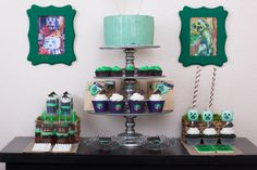 minecraft party supplies | MineCraft / Birthday / Dessert Table: