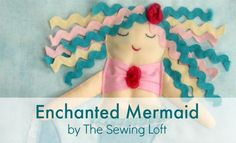 Enchanted Mermaid Quiet Book Pattern by The Sewing Loft