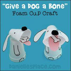 Foam Cup Dog Craft for Children from www.daniellesplace.com