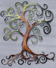 Boho Tree of Life Metal Wall Art by HumdingerDesignsEtsy on Etsy